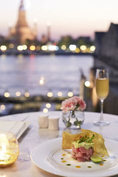 dine with style and a fantastic view of Wat Arun at Sala Rattanakosin