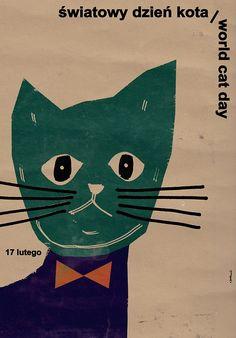 World Cat Day, Polish Poster