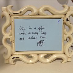 #christmas #calendar made of #quotes using a #frame and colour enveloppes. One day, one inspirational quote.