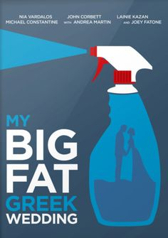 My Big Fat Greek Wedding ~ Minimal Movie Poster by DrawnToMind Minimal Movie Posters, Cinema Posters, Nia Vardalos, Movie Collage, Joey Fatone, Mixed Grill, Old Greek, Wedding Movies, Wedding Posters