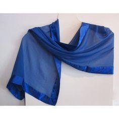 Silky blue wrap