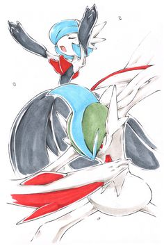 Gallade with sexy boobs