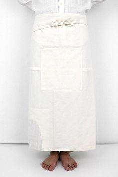 French antique linen apron/France/handmade/white