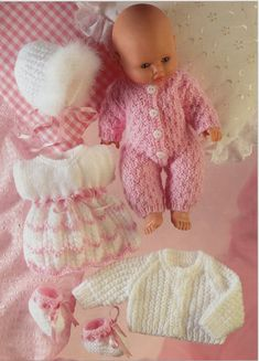 Sirdar 3072 dolls outfits knitting pattern Listing in the Baby & Children,Patterns,Knitting & Crochet,Crafts, Handmade & Sewing Category on eBid United Kingdom Knitting Dolls Clothes, Baby Doll Clothes, Knitted Dolls, Doll Clothes Patterns, Doll Patterns, Clothing Patterns, Knitting Patterns, Knitting Projects, Double Knitting