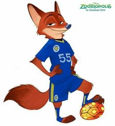 Zootopia, Zootropolis, Nick Wilde, Football