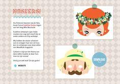 Printen en spelen! Mooie maskers van Eudeline Moutarde voor MoodKids (free download)