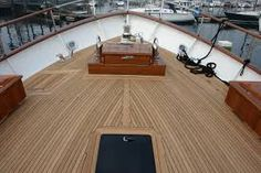 The use of wood flooring on board, the British