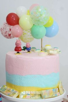 Take a look at this fab Peppa Pig birthday party! Love the birthday cake! See more party ideas and share yours at CatchMyParty.com
