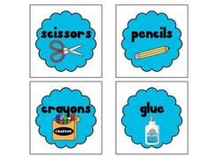 This is a set of classroom labels for almost everything (crafts, math, supplies, and more). The labels are available in seven different colors (red, blue, green, purple, yellow, orange, and pink). When you purchase this set of labels, you will get a set of each color so you can mix and match labels in your classroom or stick to one color.