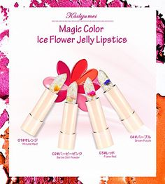 KAILIJUMEI Moisturizer lipsticks Lips Care Surplus Bright Flower Jelly Lipstick 4g x 4 PCS SET >>> Be sure to check out this awesome product. (Note:Amazon affiliate link)