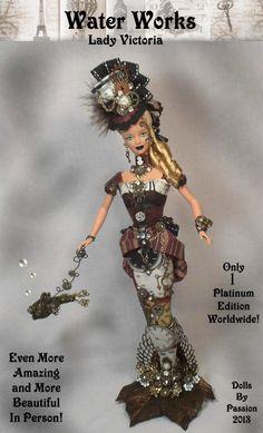 Barbie Steampunk Victorian Mermaid Fairy Fantasy Goth Doll OOAK Altered Passion   eBay