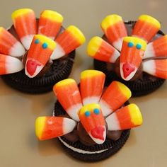 Cute Thanksgiving dessert for the kids to make!