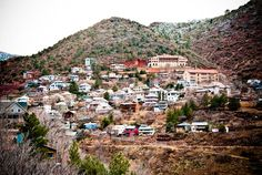 Jerome, Arizona; One of the oldest copper mines in the US, ghost town, vertical hippy town; now its an artsy community