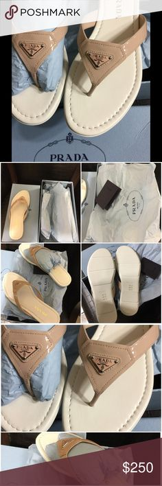 """💯% Authentic Prada Sandals Group Name is """"VERNICE"""" color is """"CIPRIA"""" I really DO NOT want to sell them because they are GORGEOUS; however, I am selling them because they are a little small on me☹️ Prada Shoes Sandals"""