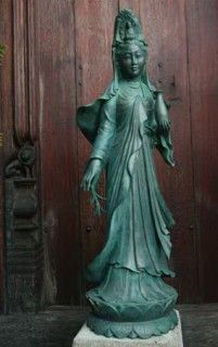 "Quan Yin Statue (Female Buddha) - she is the bodhisattva associated with compassion. The name Guanyin is short for Guanshiyin, which means ""Observing the Sounds (or Cries) of the World"". Commonly known in English as the Mercy Goddess or Goddess of Mercy"