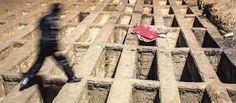 En Irán la gente duerme en tumbas