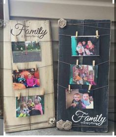 Family Picture Display This customer requested a similar set to give as a gift to her family members for Christmas. (This picture is not one of our items, but will be used as a reference)