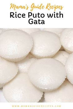 Rice puto with Gata or Coconut milk. How to make rice cake from scratch. Very affordable Filipino recipe and merienda. Mura at Swak na swak sa budget! Rice Puto Recipe, Filipino Puto Recipe, Putong Puti Recipe, Bibingka Recipe, Filipino Dishes, Filipino Desserts, Asian Desserts, Filipino Recipes, Filipino Food