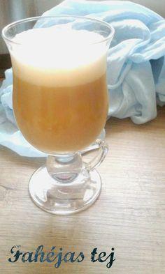 Megfőzlek...: Fahéjas tej Tej, Hurricane Glass, Glass Of Milk, Fitt, Paleo, Pudding, Drinks, Tableware, Drinking