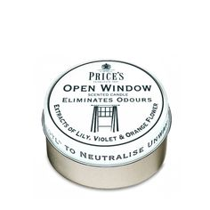 Prices Candle Tin – Open Window