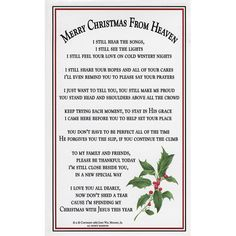 Christmas in Heaven This Year | Merry Christmas from Heaven Lacquered Card-Leaflet Missal