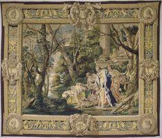 Atelier du Louvre Moïse sauvé des eaux Troisième pièce de la tenture de L'Ancien Testament, d'après Simon Vouet, exécutée pour Louis XIII, pour le palais du Louvre Vers 1630 Paris