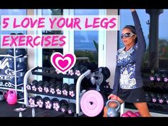 "5 EXERCISES TO LOVE YOUR LEGS! Kiana Fitness • Fit Mom TV LIVE! ""Attend"" LIVE Online Workouts! Unlimited Access to 100's of Videos! Moves for all levels! Follow along with free weights. Aloha!"