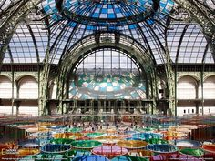 """Grand Palais, Paris Photograph by Lance McMillan This Month in Photo of the Day: 2012 National Geographic Photo Contest Images Daniel Buren's work, """"Excentrique(s),"""" fills the Grand Palais in Paris, an absolutely beautiful work of art in its own right. National Geographic Wallpaper, National Geographic Photo Contest, Paris Pictures, Paris Photos, Cool Pictures, Monuments, Paris France, France 1, Places To Travel"""