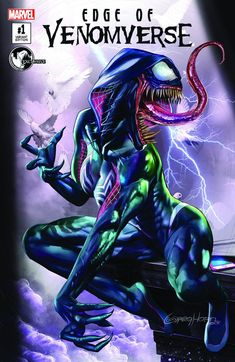 Edge of Venomverse #1 (2017) Unknown Comic Books Exclusive Variant Cover A by Greg Horn