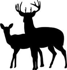Image result for picture of stag and doe outline
