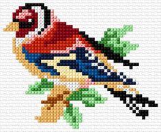Cross Stitch Bird, Simple Cross Stitch, Cross Stitch Animals, Cross Stitch Flowers, Cross Stitch Designs, Cross Stitching, Cross Stitch Embroidery, Embroidery Patterns, Cross Stitch Patterns