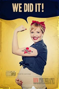 Cute pin up pregnancy announcement. www.rhmphotography.com