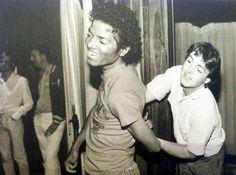 Michael Jackson and Paul McCartney fooling around | Rare and beautiful celebrity photos