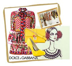 """""""Dolce & Gabbana"""" by sahrish-hossain ❤ liked on Polyvore featuring Dolce&Gabbana and Michael Antonio"""