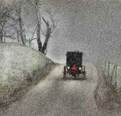 """Amish Christmas - had to drive carefully on our way to """"away"""" basketball games."""
