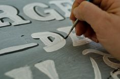MMS adding shadow to lettering.