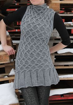 Cable tunic - so cute I can barely stand it!