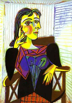 Picasso's Portrait of Dora Maar. His companion and muse Picasso bought her a home in Menerbes, France. It is now a writer and artist retreat. Congratulations to Seamus Scanlon on his fellowship at Dora Maar House. Kunst Picasso, Art Picasso, Picasso Paintings, Portraits Cubistes, Cubist Portraits, Dora Maar Picasso, Giacometti, Guernica, Georges Braque