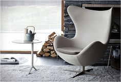 Arne Jacobsen's Egg chair, we wanted one so badly, but I guess, not badly enough, for we ended up with a great sofa