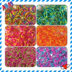 Polka Dots RUBBER BAND REFILL STRIPES Mix Color fit Rainbow Looms Red White Blue