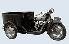 Mazda's first production vehicle was a three-wheeled truck called the Mazda-go. In 1931, 66 units were built. Mitsubishi's triple-diamond logo can be seen on the fuel tank because, until 1936, Mazda vehicles were marketed through the Mitsubishi Corporation's sales network