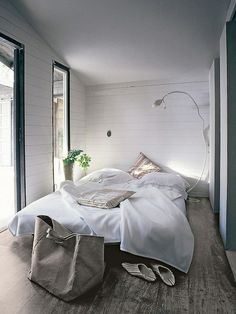 please, give me a simple white bedroom?