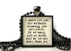 Doctor Who quote River Song quote resin necklace or by WordBaubles, $15.00