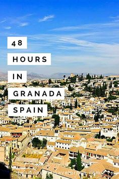 48 Hours in Granada, Spain From Plaza de San Nicolas, you can see the Alhambra from afar which is absolutely breathtaking and worth spending time at. Seeing this part of Granada first will orient you with the background for visiting the Alhambra the next Granada Andalucia, Andalucia Spain, Granada Spain, Seville Spain, Places To Travel, Travel Destinations, Places To Go, Portugal Travel, Spain And Portugal