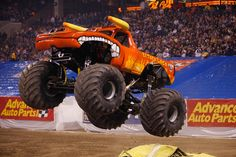 Join the Monster Truck fun this weekend in Anaheim on January at as SoCal motor sports fans experience a massive collection of the world's best monster trucks battling it out in the ul Monster Jam Tickets, Big Monster Trucks, Monster Car, Monster Truck Party, Love Monster, Jeep Suv, Mustache Party, Mini One, Rc Trucks