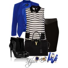 Blue Winter 2013 Outfits for Women by Stylish Eve Winter Outfits, Cool Outfits, Fashion Outfits, Fashion Trends, Fashionista Trends, Women's Fashion, Fashion Ideas, Fashion Tips, Black And White Shirt