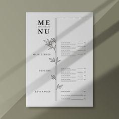 Menu Restaurant, Restaurant Menu Template, Restaurant Design, Cafe Menu Design, Menu Card Design, Food Menu Design, Menu Resto, Speisenkarten Designs, Coffee Shop Menu