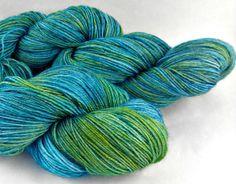 Hand Dyed Sock Yarn Superwash Wool Nylon by KinfolkYarnandFibre