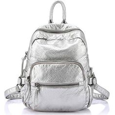 Size: * * Mistake is Allowed) Color: Black/Grey/Golgen/Silver Weight: Material: PU Style:Casual Fashion Element:Casual/Original/Solid/Travel Retro Backpack, Diy Backpack, Backpack For Teens, Laptop Backpack, Travel Backpack, Leather Backpack, Fashion Backpack, Silver Backpacks, Cute Backpacks
