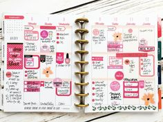 using just the 'Mom' sticker value pack on a CLASSIC Botanical Garden Happy Planner® weekly layout by mambi Design Team member Stephanie Howell | me & my BIG ideas